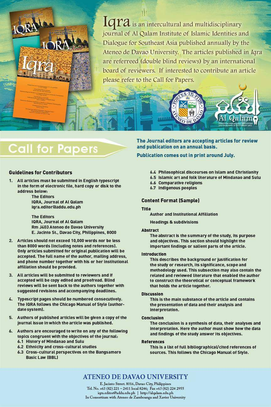 IQRA Call for Papers